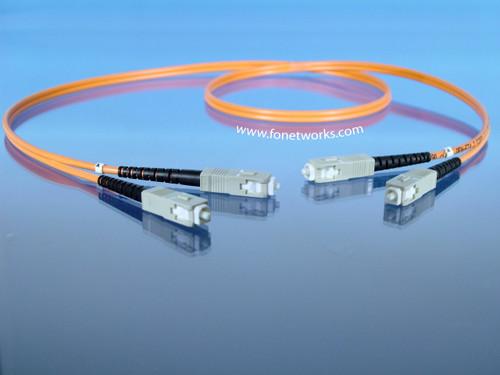 Multimode 62.5/125 Duplex Cable Assembly SC/SC