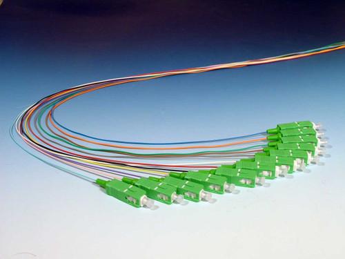 12 Color Coded Singlemode SC (APC) Pigtails