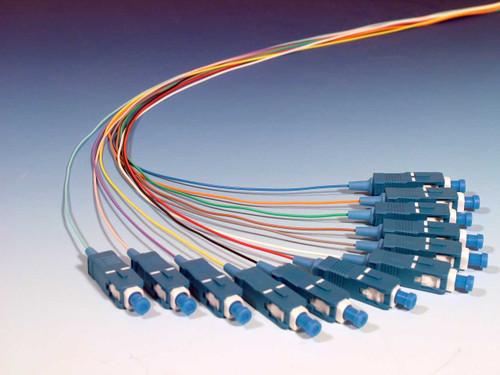 12 Color Coded Singlemode SC (UPC) Pigtails