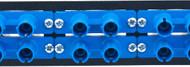 MAP Series Adapter Plates - 12 ST Multimode Duplex Blue