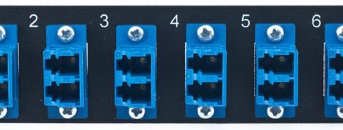 MAP Series Adapter Plates - 12 LC Singlemode Duplex Blue