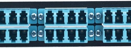 MAP Series Adapter Plates - 24 LC Multimode Quads Aqua