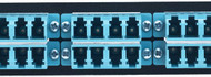 MAP Series Adapter Plates - 24 LC Multimode Quads Aqua