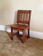 "Children's Chair, Red Oak 12"" Seat Height - Dark Oak Finish"