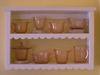 Scallop Wall Shelf  14 1/2-in H - Distressed Vanilla Cream Painted Finish