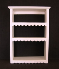 Wood Wall Shelf  24-in H - Painted Finish, Hand-cut Scallops
