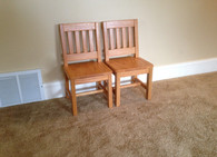"2 Child Chair - 12"" seat H - Honey Brown"