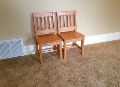 "2 Child Chair - 12"" seat H - Honey Brown"