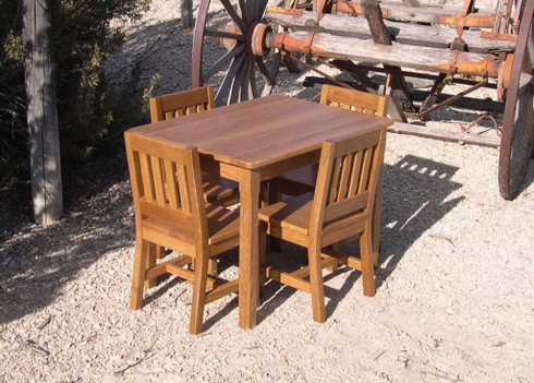 """Children's Table 22"""" H and 4 Chairs 12"""" seat H - Honey Brown"""