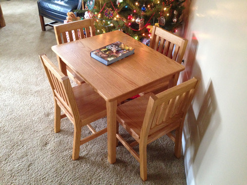 """Table - 24"""" H and 4 Chairs - 14"""" Seat Height"""