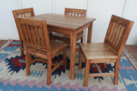 "Table 24"" & 4 Chairs 14"" Dark Oak"