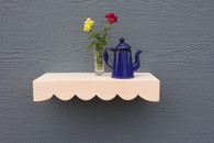 "FLOATING SHELF WHITE SCALLOP  18"" L - FREE SHIPPING"