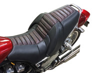 Star Rider Low Seat Conversion - Pleated Red Outline Alligator Print (85-07 All)