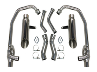 Maxflow StreetPro 4-2 Exhaust w/ Slash Cut Mufflers - Ceramic Coated (85-07 All)