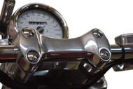 Chrome Plug - Handlebar Clamp