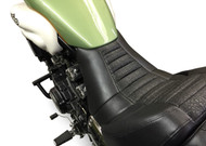 Star Rider Low Seat Conversion - Pleated Black Alligator Print (85-07 All)
