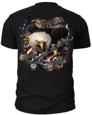 "Men's Navy T-Shirt - US Navy ""Dont Tread On Me (Eagle)""  of the United States Navy - Back"