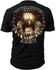 Men's Army T-Shirt - US Army Eagle - Back