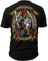 "Men's Army T-Shirt - US Army Armor of God ""Ephesians 6:13-17"" United States Army - Back"