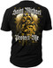 "Men's Military T-Shirt - US Military St. Michael - ""Protect Me"" American Pride - Back"