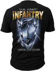 "Men's Army T-Shirt - US Army Infantry - ""Locked & Loaded"" - Back"