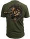 Men's Marines T-Shirt - US Marines H.O.G. Scout Sniper Marines - Olive - Back