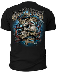 Men's Navy T-Shirt - US Navy Davy Jones - Savior of Sailors United States Navy - Back