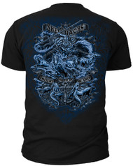 Men's Navy T-Shirt - US Navy Shellbacks - Ancient Order of the Deep - Back