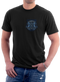 Men's Navy T-Shirt - US Navy Shellbacks - Ancient Order of the Deep - Model - Front