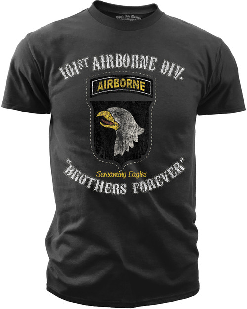 Men's Army T-Shirt - US Army 101st Airborne - Brothers Forever - Front