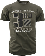 Men's Army T-Shirt - US Army 3rd Infantry - Retro - Front
