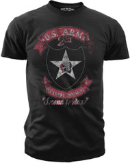 Men's Army T-Shirt - US Army 2nd Infantry - Second to None Retro - Front
