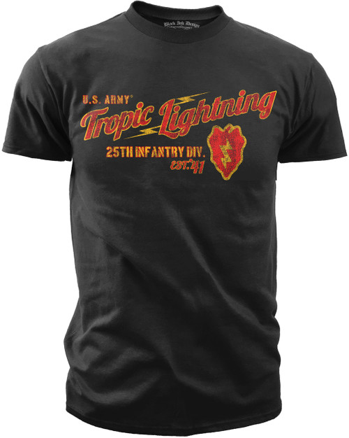 Men's Army T-Shirt - US Army 25th Infantry - Tropic Lightning Retro