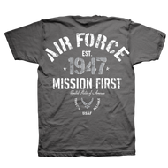 Men's Air Force T-Shirt - US Air Force - Mission First Men's - Back