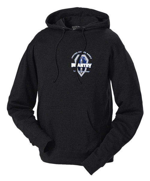 Men's Army Hoodie - US Army Infantry - Locked and Loaded United States Army - Front