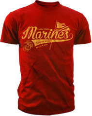 Men's Marines T-shirt - Marines Semper Fidelis Script Shirt - Back
