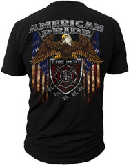 Men's Fire Fighter T-shirt - American Pride - Back