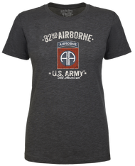 Lady's Army T-shirt - 82nd Airborne US Army Retro Women's