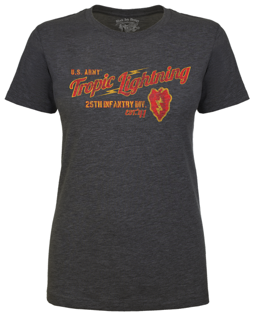 Lady's Army T-shirt - 25th Infantry US Army - Tropic Lightning Women's