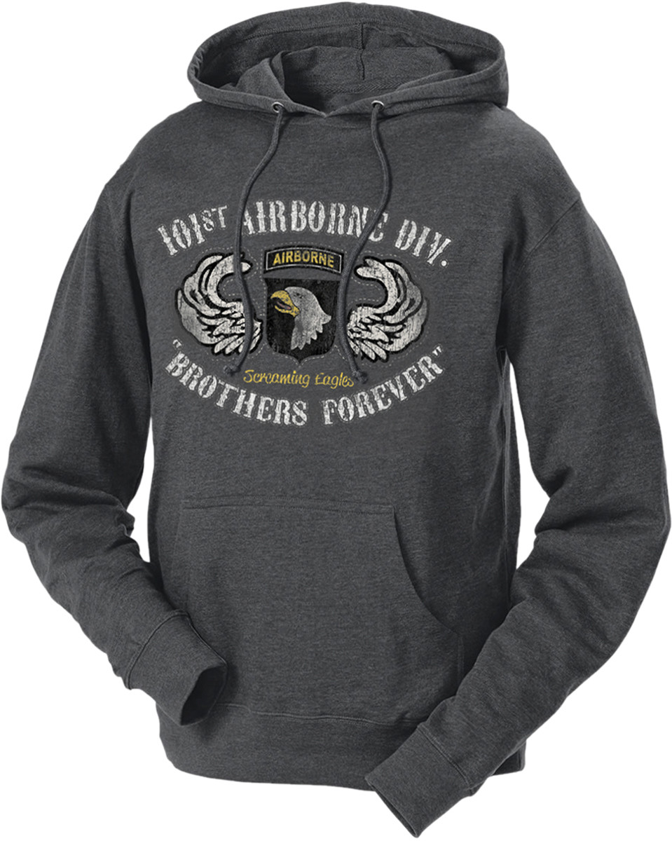 best authentic 9b77b d6adc Men's and Women's Army Hoodie - 101st AIrborne of US Army Division Brothers  Forever Retro Hooded Sweatshirt