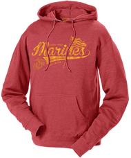 Men's and Lady's Marines Hoodie - Marines Semper Fidelis Script Retro Hooded USMC Sweatshirt