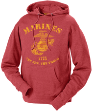 Men's and Lady's Marines Hoodie - Marines The Few The Proud Retro Hooded USMC Sweatshirt