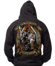 "Men's Hoodie - Armor of God ""Ephesians 6:13-17"" Military Hooded Sweatshirt - Back"