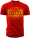 Men's T-Shirt - Original Veteran - 7 Days a Week Vintage Veteran shirt for Army, Marines, Navy, Air Force, and Coast Guard - Red