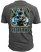 Men's Navy T-Shirt - US Navy Chief Backbone of the Fleet - United States Navy - Charcoal