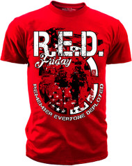 Men's R.E.D. Friday T-Shirt - American Pride - Remember Everyone Deployed - Red T-shirt