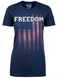 Lady's FREEDOM T-Shirt - American Pride - Freedom Tee - Navy T-shirt