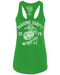 Lady's Racerback T-Shirt - Marine Corps Live Free Retro Women's USMC Tank Top Kelly Green