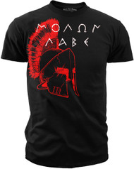 Men's 2nd Amendment T-Shirt - American Pride - Spartan - Molon Labe - BLACK