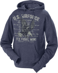 Unisex U.S.  Air Force Hoodie - US Air Force Flight Fight Win Sweatshirt